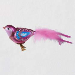 Beautiful Bird Blown Glass Ornament