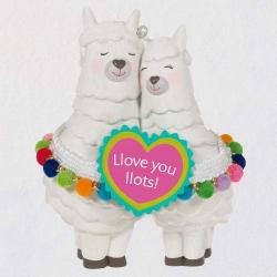 Llove You Llots Llama Couple Ornament