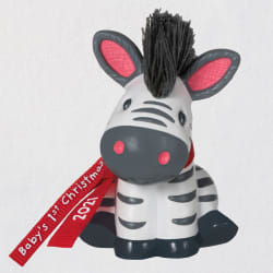 Born to Stand Out Baby's 1st Christmas Zebra 2021 Ornament