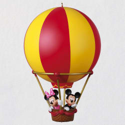 Disney Mickey and Minnie High Flying Friends Hot Air Balloon Orn