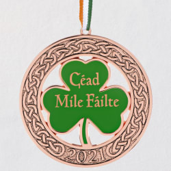 Irish Welcome 2021 Metal Ornament