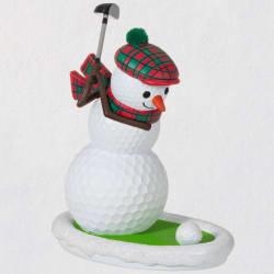 Golfing in the Snow Golf Ball Snowman Ornament 2021