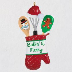 Bakin' It Merry Kitchen Utensils Ornament