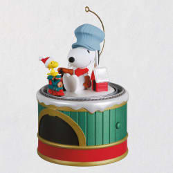The Peanuts® Gang Snoopy's Toy Train Ornament W/ Sound & Motion