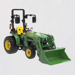 John Deere 3038E Compact Utility Tractor Metal Ornament