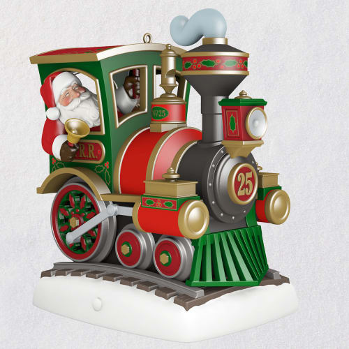All Aboard! Santa Train Musical Ornament With Light and Motion
