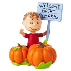 Peanuts® Linus Welcome Great Pumpkin Figurine, 4.75
