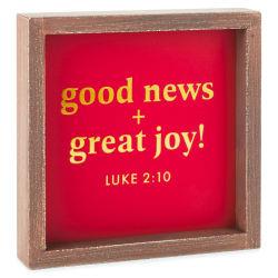 DaySpring Candace Cameron Bure Good News Great Joy Wood Sign