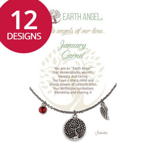 Earth Angel Necklaces • Birth Month/Stone