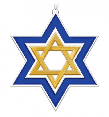 Season of Miracles Porcelain Star of David Ornament