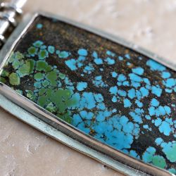 Turquoise Hinged Pendant -SOLD-