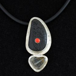 Contemporary Black Stone Necklace - SOLD
