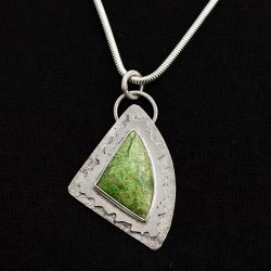 Textured Gaspeite Pendant - SOLD