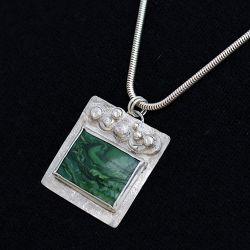 Green Square Pendant - SOLD