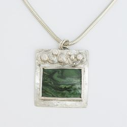 Green Square Pendant - SOLD