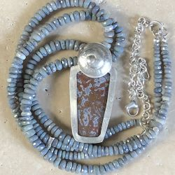 Riviera Plume Agate Necklace - SOLD
