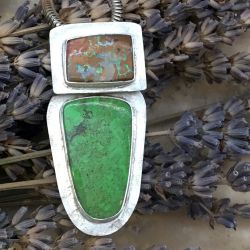 Yahowah Opal & Gaspeite Pendant -SOLD-