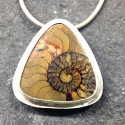 Ammonite in Matrix Pendant