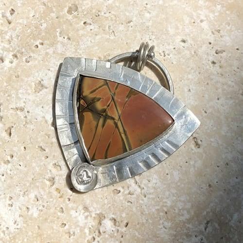 Cherry Creek Jasper Triangular Pendant