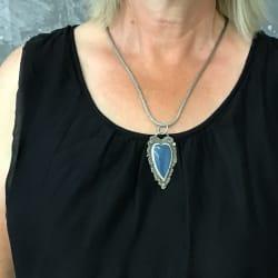Leland Blue Carved Heart Pendant