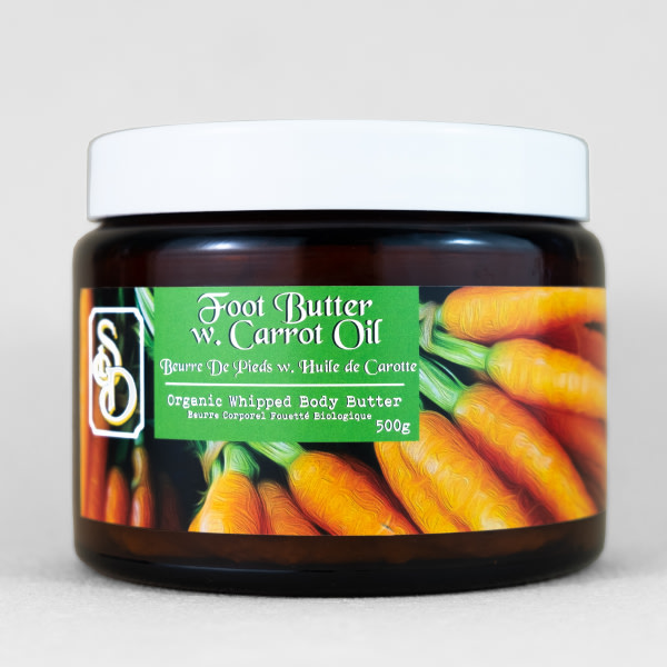 Whipped Foot Butter with Carrot Oil