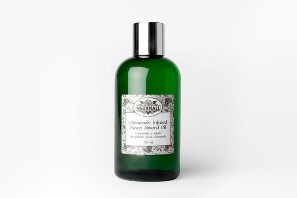 chamomile infused sweet virgin almond oil