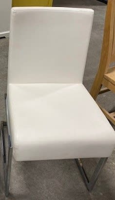 White Leather Chair - Waterloo ReStore -