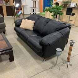 Pleather Couch - Cambridge ReStore
