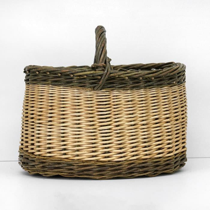 Small Oval White Basket