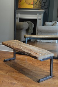 'Max' Salvaged Barn Board Bench