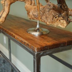 'Ernest' Reclaimed Wood Console Table - SOLD