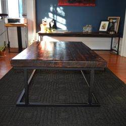 'Tait' Salvaged Wood & Metal Coffee Table - SOLD