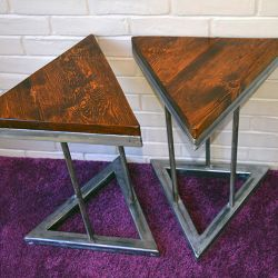 'Prism' Triangular Side Tables