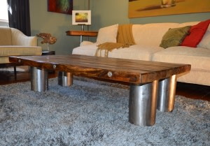 'Intelligence' Steel Pipe Coffee Table - SOLD