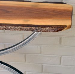 'Annie 2'  Live-Edge Walnut Console Table