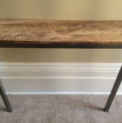 'Balanced'  2 Leg Narrow Console Table - SOLD