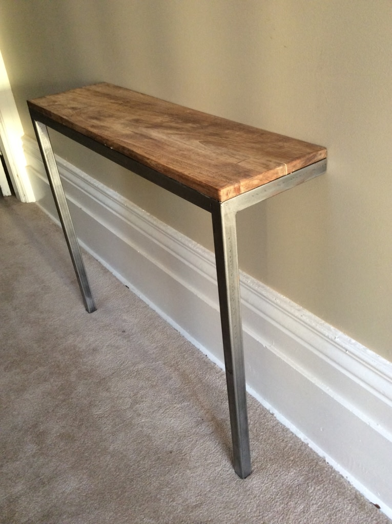 Balanced 2 Leg Narrow Console Table Sold