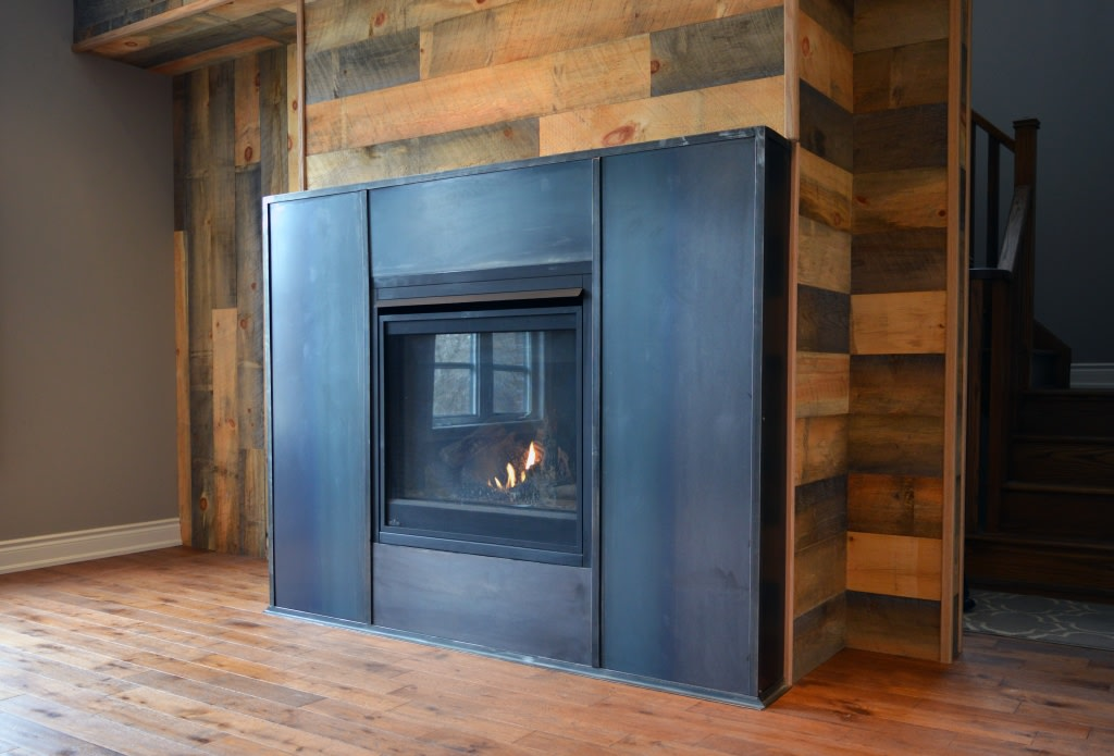 New House Hot Rolled Steel Fire Surround Sold
