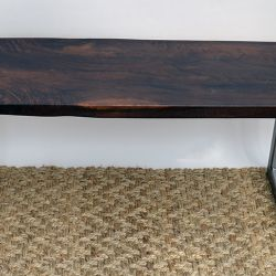 'Brassy Biscott' Black Walnut Bench - SOLD
