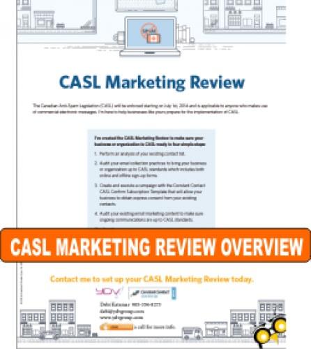 Canadian Anti-Spam Legislation (CASL) Marketing Review