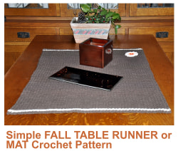Simple Fall Table Runner or Mat Crochet Pattern