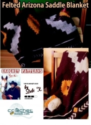 Felted Arizona Saddle Blanket Crochet Pattern
