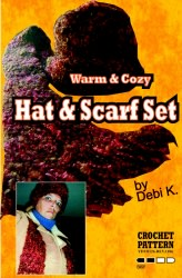 Hat and Scarf Crochet Pattern Set