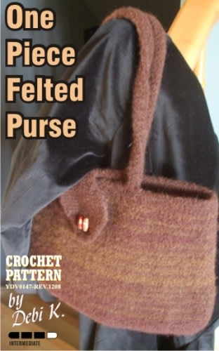 One Piece Felted Purse Crochet Pattern
