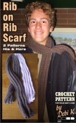 Rib on Rib Scarf Crochet Pattern