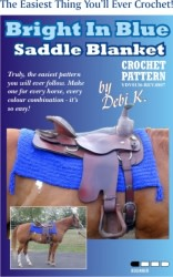Bright in Blue Saddle Blanket Crochet Pattern