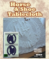 Horse Shoe Tablecloth Crochet Pattern
