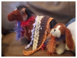 Webkinz Scarfs Crochet Patterns
