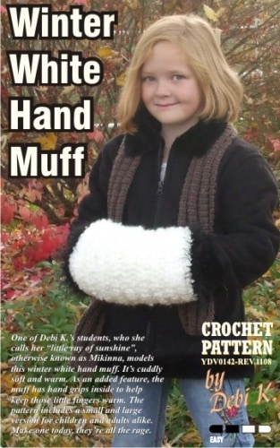 Winter White Hand Muff Crochet Pattern