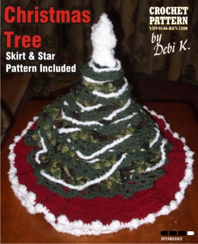 Christmas Tree, Skirt & Star Crochet Pattern